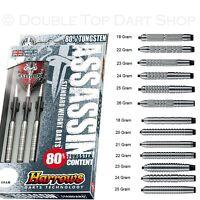 Harrows Assassin Tungsten Steel Tip Darts - Choose Knurled or Ringed Barrels