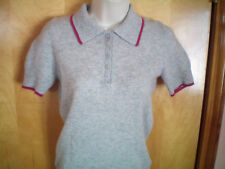 womens gray fuchsia OLD NAVY s/s cashmere sweater shirt size XS S free shipping