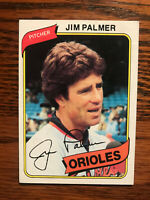 1980 Topps #590 Jim Palmer Baseball Card HOF Raw Baltimore Orioles