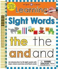 Wipe Clean: Learning Sight Words Wipe Clean Learning Books