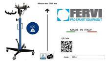 SIF Sollevatore idraulico da fossa e sottoponte 500 Kg FERVI con supporto cambio