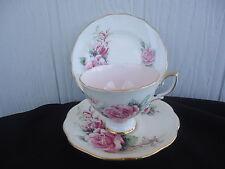 vintage royal standard queen elizabeth trio rose pink interior cup & saucer