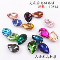 10pcs Pendant Faceted Acrylic Crystal Loose Charms Beads DIY For Craft Clothing