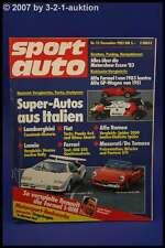 Sport Auto 12/83 Lancia Stratos Ritmo Abarth Pantera GT