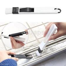 Useful 2In1 Polished Window Track Cleaning Brush Keyboard Cranny Dust Shovel CA