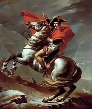 """Napoleon Crossing the Alps by Jacques-Louis David Giclee Canvas Print 20""""x24"""""""