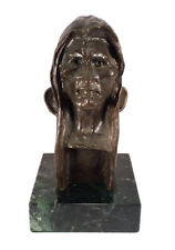 VINTAGE FREDERIC REMINGTON SAVAGE NATIVE AMERICAN INDIAN WESTERN BRONZE BUST ART