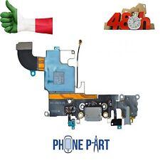 DOCK CONNETTORE RICARICA IPHONE 6S NERO GREY MICROFONO JACK CUFFIE  FLEX FLAT