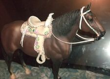 Breyer Custom traditional sized  western Saddle Set . tack,model horses,stone