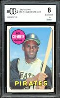 1969 Topps #50 Roberto Clemente Rookie Card BGS BCCG 8 Excellent+