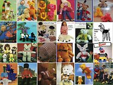 Nearly 400 Toys, Dolls clothes,Tea Cosies, & Gift Knitting Patterns on CD