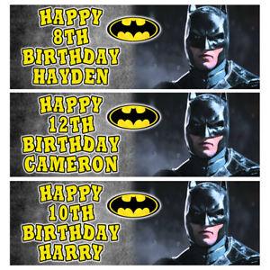 BATMAN Personalised Birthday Banner - Batman Birthday Party Banner - 1x3ft
