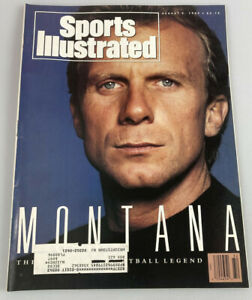 August 6, 1990 Joe Montana San Francisco 49ers Sports Illustrated Magazine