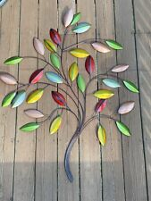 Vtg  Rustic Tree Wall Art Large Sculpture Accent Decor Multicolor Tree Of Life