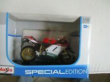 HONDA CRF450 1:18 Moulé Motocross MX Jouet Modèle Vélo Rouge enduro NOUVEAU