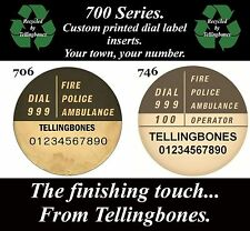 ☎️ GPO BT 700 SERIES TELEPHONE TRIMPHONE DIAL LABELS YOUR OWN TOWN & NUMBER ☎️