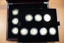 SUPERBE COFFRET 19 MÉDAILLES  CU/AGT  & OR PUR CERTIFICAT PREMIÈRE FRAPPE EURO