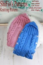 Knitting Pattern for Baby Sleeping Bag Cocoon Papoose #354 Not Clothes