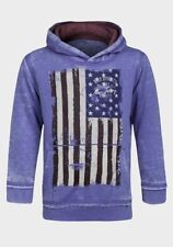 NEW Minoti Boys Blue Burn Out Hooded Top - Age 8-9 Years