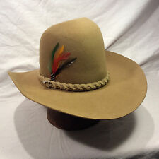 Chestnut/Cinnamon 4X Beaver Stetson Gus Style Western W/ Chestnut Woven Band Hat