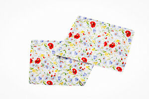 Table Runner And Placemats Multi Coloured Floral Print Table Linen