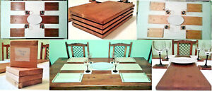 TABLEWARE SETS - WOODEN PLACEMATS, DRINK COASTERS & CENTER RUNNERS