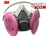 3M 6200 Half Facepiece Respirator W/ 3M 2091 Filter Cartridge, Size: MEDIUM
