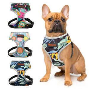 Printed No Pull Dog Harness Reflective Breathable Puppy Vest for French Bulldog