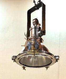NAUTICAL MARINE HANGING CARGO PENDANT DECK ALUMINUM NEW LIGHT IRON BRACKET 1 PCS