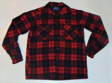 Men'S Vintage Pendleton Tartan Plaid Wool Shirt! Loop Collar! 2 Pockets! Usa! S