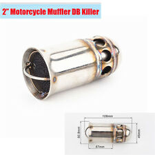 51MM Motorcycle Exhaust Removable Muffler DB Killer Silencer Pipe Chrome Metal