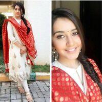 Salwar Kameez Suit Indian Pakistani Designer Dress Shalwar New Party Wear k