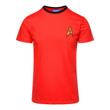 Official Star Trek Unisex Red Engineering / Security Uniform T Shirt ALL SIZES