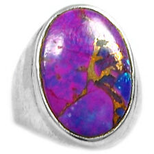 Copper Purple Arizona Turquoise 925 Sterling Silver Ring Jewelry s.6.5 PCTR1338