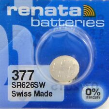 1 x 377 SR626SW SR66 AG4 606 BA Watch Battery Silver 1.5V Mercury quartz renata