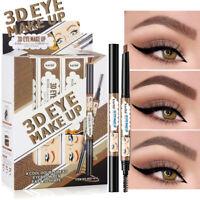Double Head Eyebrow Tattoo Pencil Longlasting Waterproof Eye Makeup Cosmetic