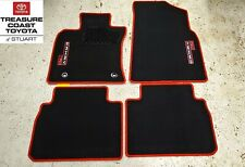 NEW OEM TOYOTA CAMRY 2018-2020 TRD FLOOR MATS BLACK WITH RED STITCHING