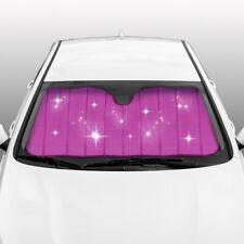 carXS Universal Pink Glitter Auto Sun Shade Car SUV Truck Windshield Sunshade