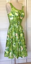 1950s Vintage Charm of Hollywood summer Garden Dress Green Cotton M