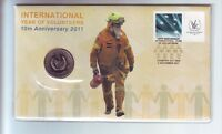 2011 International Year Volunteers 10th Anniversary 20 Cent Coin Stamp Set PNC