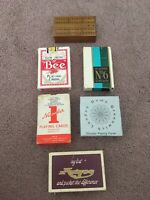 Game Bundle 5 X Vintage Playing Cards & Fold Up Travel Crib Board - London Dome