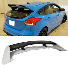 For 13-17 Ford Focus Hatchback RS Style Rear Roof Trunk Wing Spoiler ABS Plastic