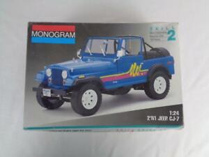 Monogram 2'n1 Jeep CJ-7 Off-Road Suburban 1/24 Model Cart Kit #2966- Open Box