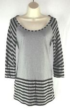 NORMA KAMALI knit top sz S 100% Organic Cotton Tunic Stripes