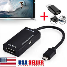 Micro USB  to HDMI Adapter USB 3.1 Cable For MHL Android Phone Tablet Black US