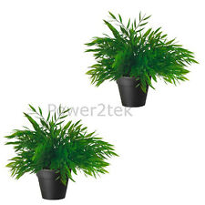 2 x IKEA FEJKA Artificial Plastic Potted Plant Home Office House Nature Bamboo
