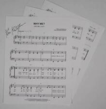 """KRIS KRISTOFFERSON Signed Autograph """"Why Me? (Why Me, Lord?)"""" Sheet Music"""