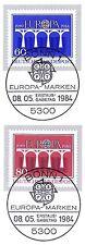 BRD 1984: Brücken! Europamarken Nr. 1210+1211 mit Bonner Sonderstempeln! 1A 156