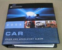 2003 Ford Dealer Color & Upholstery Album Book -Mustang Thunderbird ZX2 Taurus +