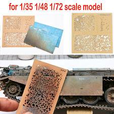DIY Sprüh Papier Verwitterung Airbrush Schablonen Tool für 1/35 1/48 1/72 Modell